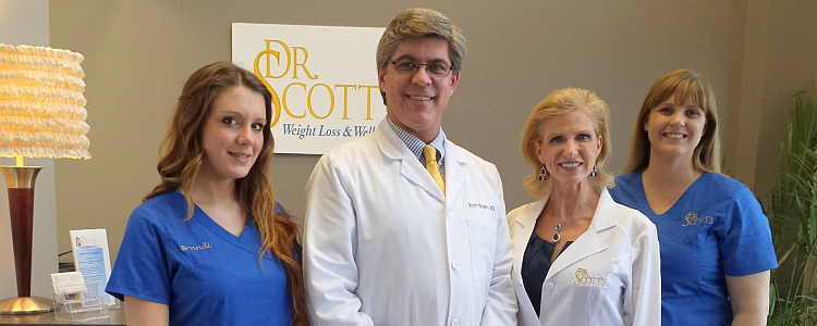Dr Scott and his staff