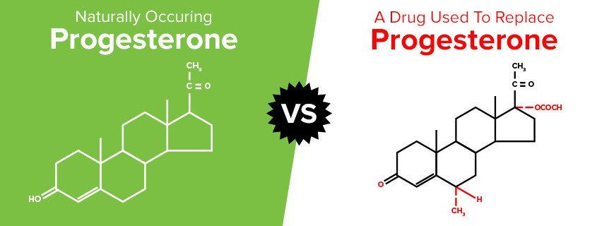 Natural progesterone vs drug
